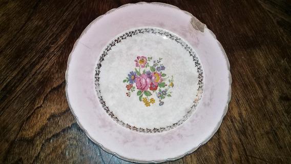 Antiguo Plato De Porcelana Inglesa Para Restaurar
