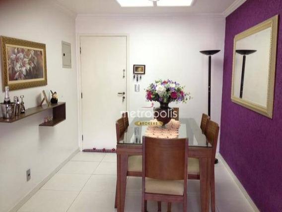 Apartamento Com 3 Dormitórios À Venda, 84 M² Por R$ 430.000,00 - Nova Gerti - São Caetano Do Sul/sp - Ap3116