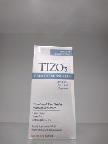 Imagen 1 de 4 de Protector Solar Mineral Tizo 3 Spf 40 Con Color 50g