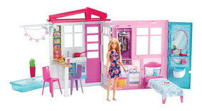 Playset E Boneca Barbie - Casa Glamour Da Barbie - Mattel