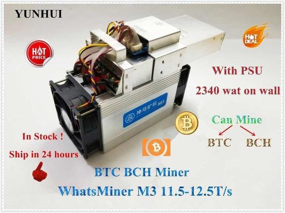 Bitcoin Whatsmine M3, Mineraçao