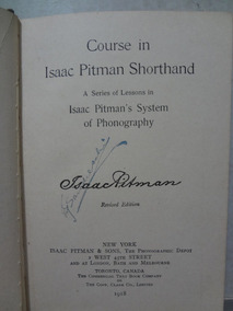 Livro Course In Pitmans Shorthand Isaac Pitman