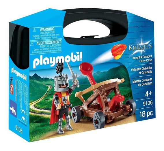 Playmobil - Maleta Cavaleiro Com Catapulta - 1746 - Sunny