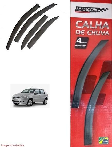 Kit Calha De Chuva Fiat Palio / Siena Até 09 - 04 Portas