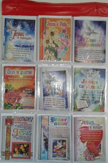 Cartão Evangélico C/gliter Cartela C/27 Unidades + Envelope