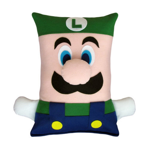 Pelúcia - Almofada Luigi (antialérgica) - Turma Super Mario