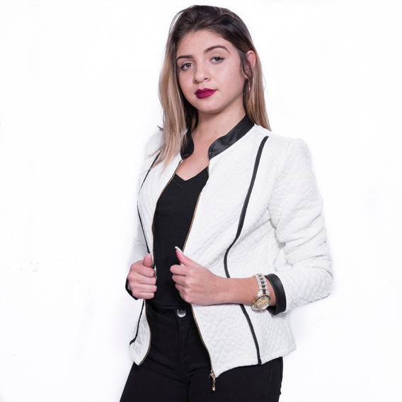 Jaqueta Casaco Blazer Blusa Jacquard Feminina
