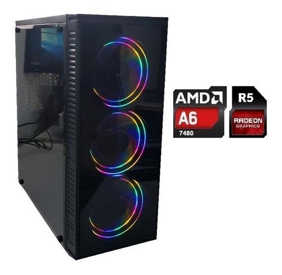 Cpu Gamer Barata Amd A6 7480 8gb Ssd240 Ou Hd1tb Video R5 2g