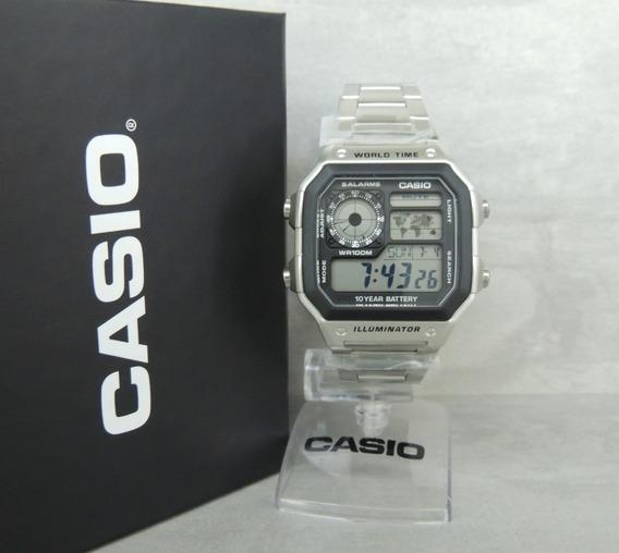 Relógio Casio Masculino Ae-1200whd-1avdf - Hora Mundial Nfe