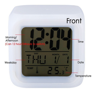 Reloj Despertador Digital Reloj Decorativo Gadget 7 Colores