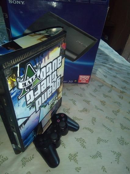 Playstation 3 Super Slim, Bloqueado, Com 3000 Jogos No Hd.