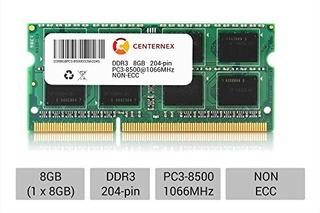 Memoria,8gb Sólido Sodimm Ddr3 Non-ecc Pc3-8500 1066mhz ..