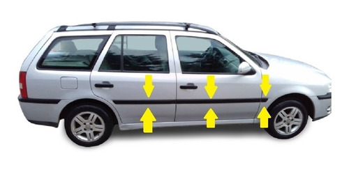 Vw Gol Country 2014 Baguetas Laterales (44mm) Rapinese