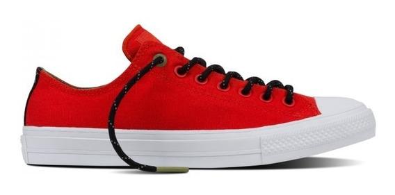 Converse Ox Chuck 2 Ii Rojo Colorad Counter Climate Lunarlon
