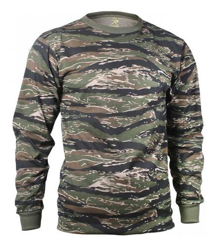 Imagen 1 de 1 de Camiseta Rothco Manga Larga Camuflada