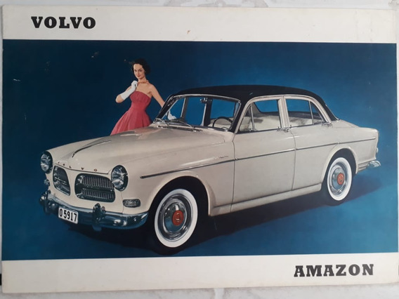 Folder Folheto Brochura Prospecto Volvo Amazon 122 S 1958