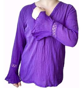 Blusa-camisola Bambula Escote V-talle Especial - Xl