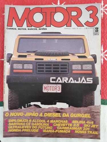 Revista Motor 3 Diplomata 6 Gurgel Carajás Carbrasmar 331 85