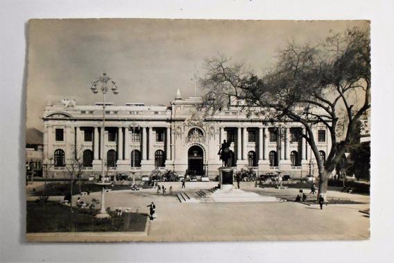 Foto Postal Plaza Bolivar Y Legislatura Peru Circa 1950