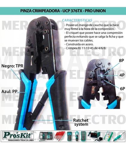 Pinza Crimpeadora Proskit Ucp-376tx Rj45-11 Cricket Utp