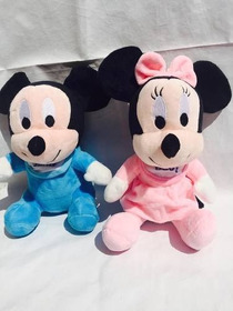 Minnie Baby Rosa E Mickey Baby Azul Kit Com 2