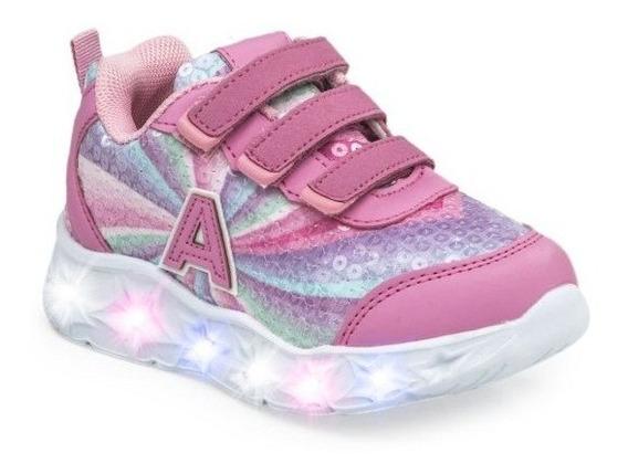 Zapatillas Addnice Starlight Con Velcro Ros De Niños