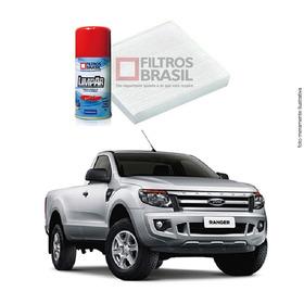 Kit Filtro Ar Condicionado Higienizador Ford Ranger 12/...