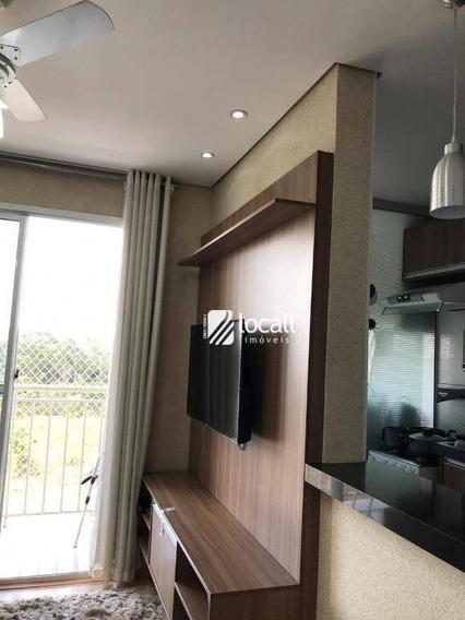 Apartamento Com 2 Dormitórios À Venda, 49 M² Por R$ 210.000 - Vila Flora - São José Do Rio Preto/sp - Ap1872