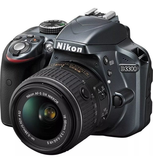 Nikon D3300+sd32+4bat+2carreg+flashtop+tele300+bolsaprof+acs