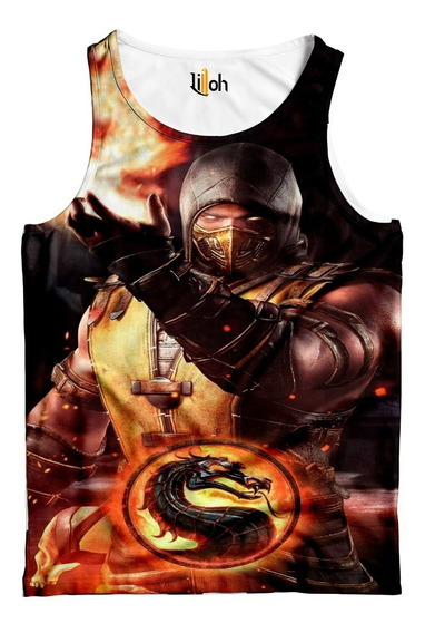 Camiseta Regata Mortal Kombat Scorpion - Estampa Total