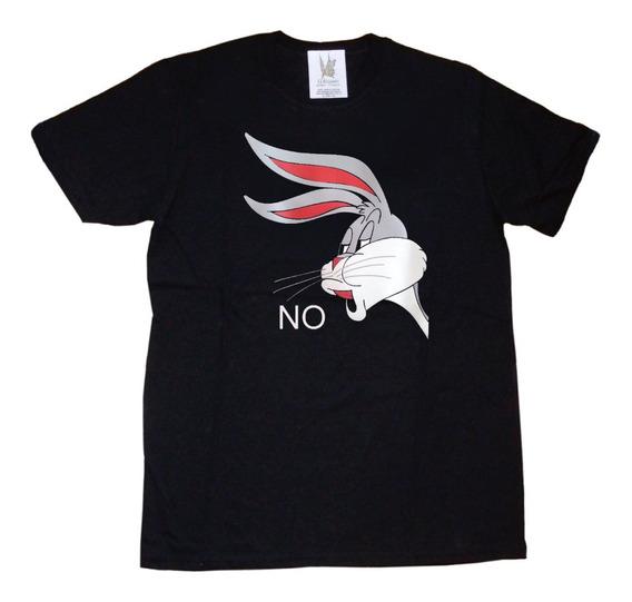 Remeras Estampa Vinilo Bugs Bunny No Meme Regalo Navidad