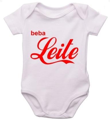 Body Infantil Bebe Personalizado Frases Beba Leite Roupinha