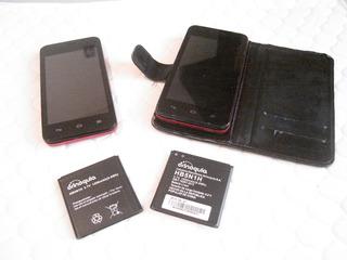 (2) Teléfono Huawei Bucare Y.330. - Tarjeta Dañada (50vrdes)