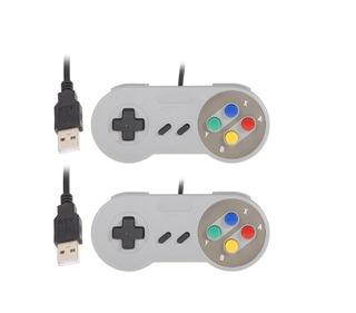 2x1 Control Joystick Super Nintendo Snes Usb Pc - Mac