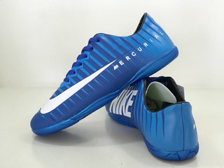 Chuteira Mercurial Azul Futsal Adulto Do 33 Ao 43