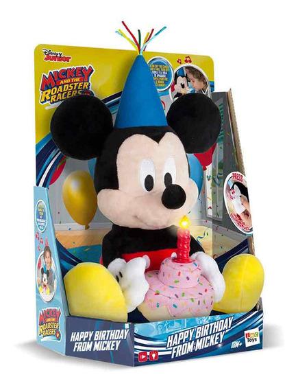 Boneco Pelucia Happy Birthday Mickey Com Som - Multikids