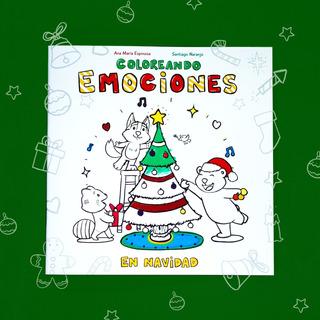 Libro Para Colorear - Coloreando Emociones En Navidad