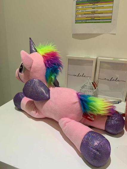 Unicornio De Peluche Rosado