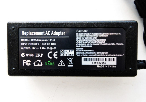 Fonte Carregador De Bateria Notebook Acer Aspire 19v 3.42a