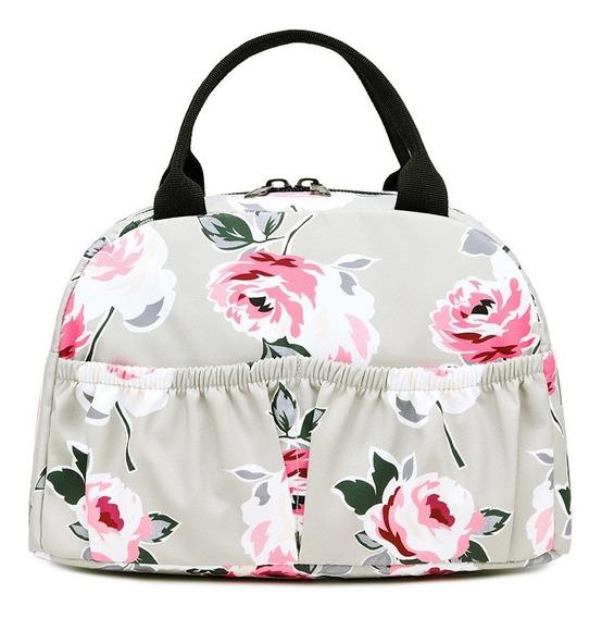 Bolsa Necessaire Lancheira Flower Super Fashion Cityrock