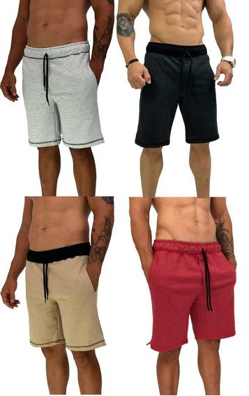 Kit 4 Bermudas Moletom Sortidas Atacado Promoção Shorts