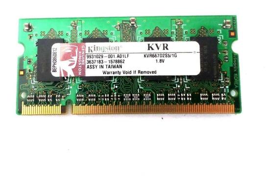 Memória Notebook Dell Inspiron 1525 - Kingston Kvr667d2s5/1g