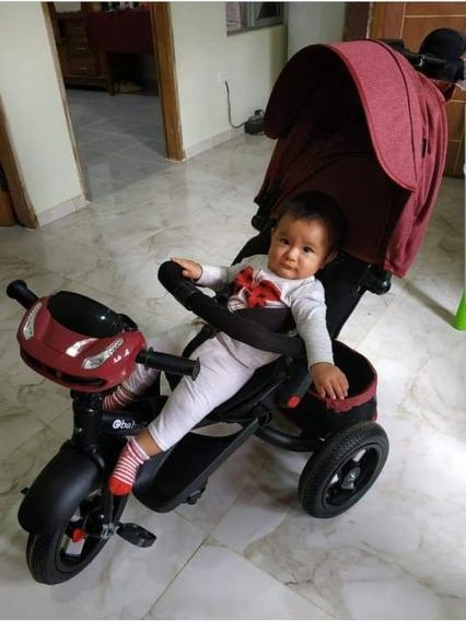 Triciclo Infantil 3 Em 1 Novos Banco Giratorio E Reclinavel