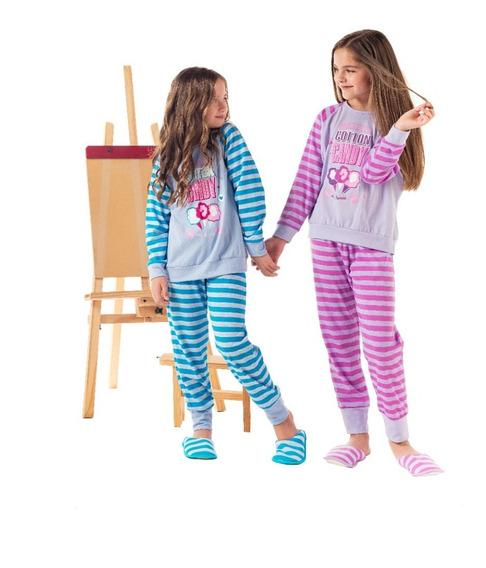 Pijama Nena Mariené Rayado Candy Invierno 2020