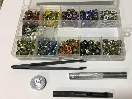 Kit 400 Ilhós Colorido E Vazador Lanmax Caixa Organizadora