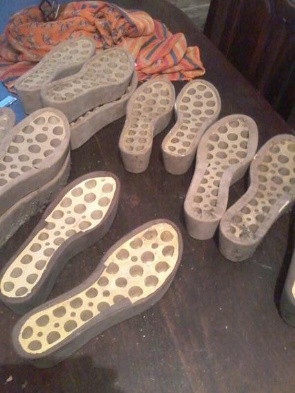 Bases De Goma De Zapato De Mujer Forrado En Cueeo..