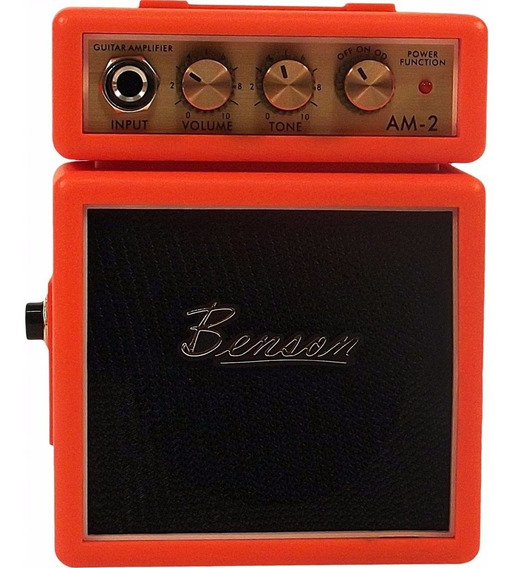 Mini Amplificador De Guitarra Benson Laranja Am2o 007014