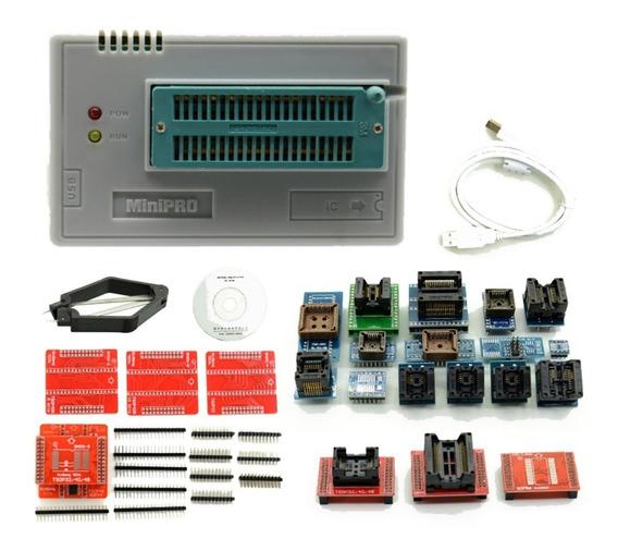 Gravador Universal Minipro Tl866cs + Todos Adaptadores