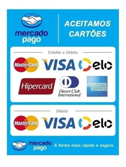 5 Adesivo Mercado Pago Aceita Cartão