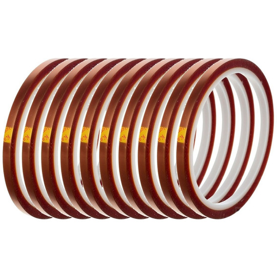 Kit 3 Fitas Kapton Alta Temperatura Bga Sublimação 5mm X33m